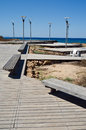 Free Road To The Sea And Lampposts Royalty Free Stock Photo - 25904785