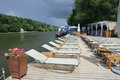 Free Lounge Chairs Ashore Moscow River Stock Image - 25907221