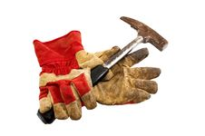 Free Work Gloves And A Hammer Stock Images - 25903084