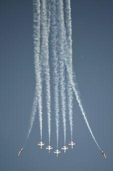 Plane Acrobatics Royalty Free Stock Photography
