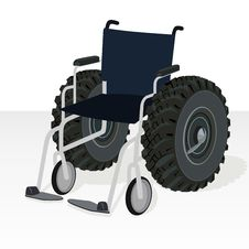 Free Wheelchair. Stock Photo - 25908580