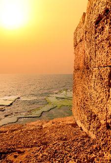 Free Mediterranean Orange Sunset Royalty Free Stock Images - 25909329