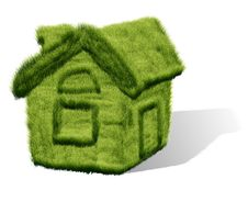 Free Green Grass House Stock Photo - 25910200