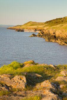 Free Somerset Coastline On Sand Point Weston-s-Mare Stock Photos - 25916123