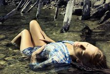 Free Fashion Photo Of Young Beautiful Woman Stock Image - 25916971