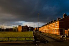Free Row Of Houses In A Street Of Manchester Royalty Free Stock Photography - 25917507