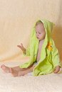 Free The Child After Bathing Royalty Free Stock Photo - 25927865