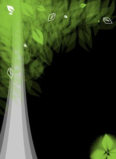 Free Futuristic Stylized Tree With Leafage Royalty Free Stock Photography - 25920187