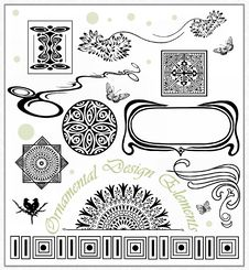 Free Ornamental Design Elements Royalty Free Stock Photography - 25920397