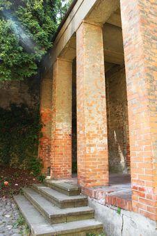Free Medieval Church Brick Pillars Royalty Free Stock Image - 25920536