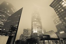 Free Highrise Structure In Fog Stock Photography - 25922232