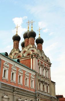 Free Domes Of The Church Of St. Nicholas In Moscow Royalty Free Stock Photo - 25924045