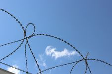 Free Barbed Wire Barrier Royalty Free Stock Images - 25926419