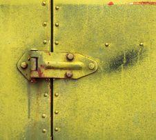 Free Hinge On Old Metal Door Royalty Free Stock Photos - 25927688