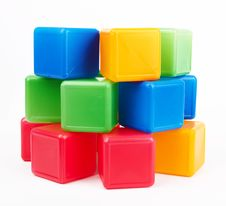 Free Plastic Blocks Royalty Free Stock Photo - 25927895