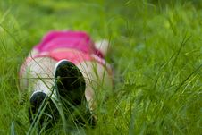 Free Girl Lying On Grass Stock Photos - 25929183