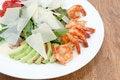 Free Arugula Dish With Shrimp Royalty Free Stock Photography - 25931877