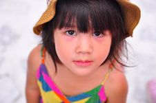 Free Girl In Hat Royalty Free Stock Photography - 25930317