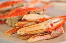 Cooked Crabs, Boiled Crab Royalty Free Stock Image