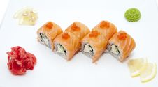 Free Japanese Sushi Fish And Seafood Stock Photography - 25932092