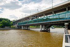 Free Luzhniki Metro Bridge In Moscow, Russia Stock Photo - 25933320