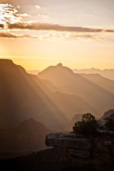 Sunrise At The Grand Canyon Royalty Free Stock Photo
