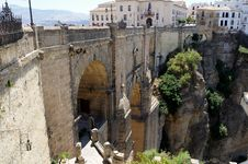 New Bridge In Ronda In Málaga, Andalusia, Spain Royalty Free Stock Photos