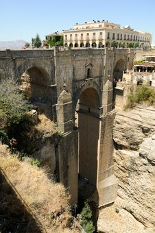 Free New Bridge In Ronda In Málaga, Andalusia, Spain Royalty Free Stock Image - 25937816