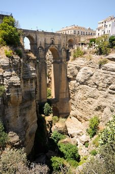 Free New Bridge In Ronda In Málaga, Andalusia, Spain Royalty Free Stock Images - 25937899