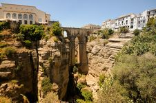 New Bridge In Ronda In Málaga, Andalusia, Spain Stock Photos