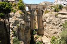 Free New Bridge In Ronda In Málaga, Andalusia, Spain Stock Images - 25937954