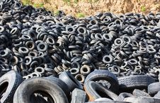 Free Heap Old Tires Royalty Free Stock Photo - 25939535