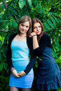 Free Two Girlfriends Outdoors Stock Photos - 25946113