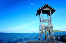The Coast Guard Tower. Royalty Free Stock Photos