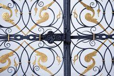 Ornamental Iron Gate Royalty Free Stock Photos