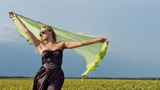 Free Woman With Scarf In The Countryside Royalty Free Stock Images - 25944439