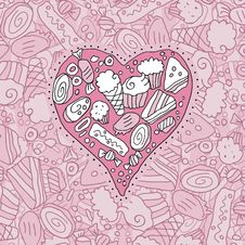 Free Doodle Heart Stock Photography - 25946732