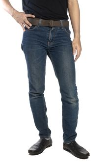 Free Man Wearing Jeans Royalty Free Stock Photos - 25947168