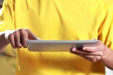 Free Man Using Digital Tablet Stock Images - 25949984