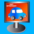 Free The Car In The Monitor Royalty Free Stock Images - 25951659