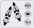 Free Set Of Fish Stock Image - 25953281