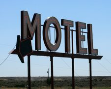 Free Motel Sign Royalty Free Stock Images - 25950309