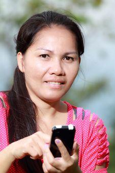 Free Women Using Smartphone Royalty Free Stock Photo - 25950435