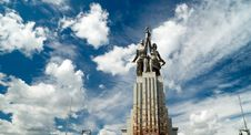 Famous Soviet Monument Worker And Kolkhoz Woman Royalty Free Stock Photo