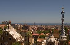 Free Guell Park In Barcelona, Architecture By Gaudi Stock Photos - 25953503