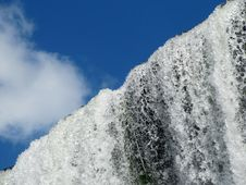 Free Beautiful Stream Of Falling Water And Blue Sky Stock Photo - 25953680