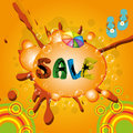 Free Colorful Summer Sale Template Stock Photography - 25961622