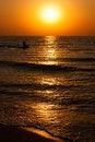 Free Beautiful Seascape With Orange Warm Sunrise Royalty Free Stock Photos - 25965348