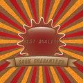 Free Old Vector Round Retro Vintage Label Stock Image - 25965891