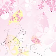 Free Floral Birds Background Stock Image - 25961321